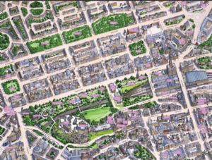 Cityscapes Street Map Of Edinburgh 400 Piece Jigsaw Puzzle 470mm x 320mm (hpy)